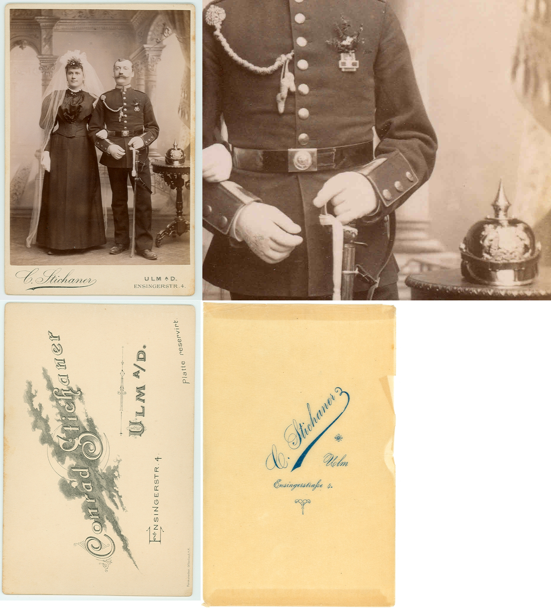 cdv ulm soldato ufficiale guardia con piccone casco sciabole phot conrad stichaner 1900 ebay. Black Bedroom Furniture Sets. Home Design Ideas